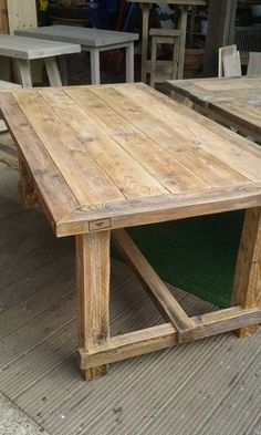 Bauholz Esstisch von bauwerk-original auf DaWanda.com (Woodworking Table)