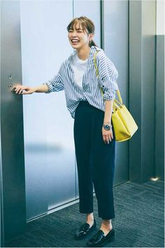 Casual Work Outfits, Work Casual, Simple Outfits, Chic Outfits, Fashion Outfits, Japan Fashion Casual, Office Fashion, Work Fashion, Minimalist Fashion Women