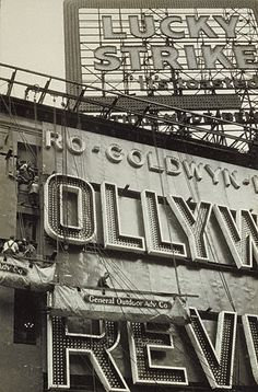 Outdoor Advertisements. Walker Evans, New York City, about 1929