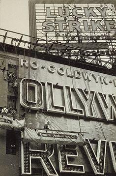 Outdoor Advertisements. Walker Evans, New York City, about 1929