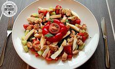 Hähnchen-Mozzarella Salat mit Balsamico-Vinaigrette
