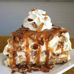 Butter Brickle Frozen Delight Recipe - Allrecipes.com....Caramel pecan frozen delight..NO bake & Make a Head...A pre-made graham crust can be used... ( a chocolate one would be great too )    ....