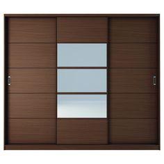 Manhattan Comfort Adrian And 7 Shelf Sliding Door Wardrobe With Mirrors - Discontinued