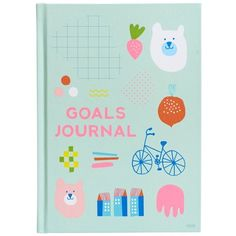 A5 GOALS JOURNAL CUTE (16 JOD) ❤ liked on Polyvore featuring home, home decor and stationery