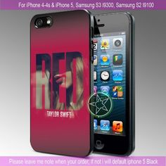 Taylor Swift Red iPhone 4/4S/5, Samsung S4/S3/S2 cover cases | sedoyoseneng - Accessories on ArtFire
