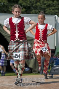 On the left - kilt with red vest #macbean #green #tartan