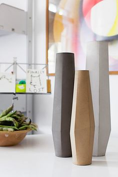 .Stefano Pugliese's beautiful Marchigüe Concrete Vases | Photo: Giulio Boem | Stylist: Francesca Pelliciari