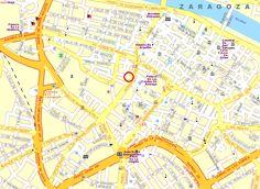 Mappa di Saragozza - Cartina di Saragozza