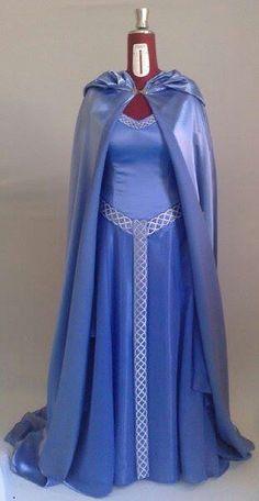 Celtic bridal dress and cloak