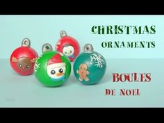 [Stop Motion] Christmas Ornaments Tutorial Collaboration/Boules de Noël Fimo - YouTube