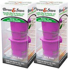 Brew and Save Refillable K Cup for Keurig 2.0 and 1.0 Brewers, 4-count - http://teacoffeestore.com/brew-and-save-refillable-k-cup-for-keurig-2-0-and-1-0-brewers-4-count/
