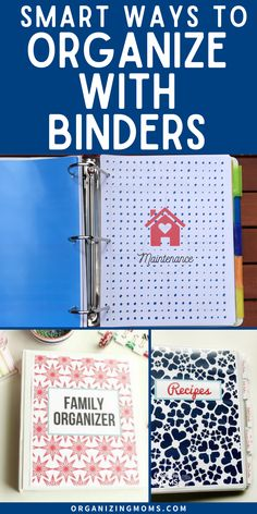Learn how to create your own organizing system with binders. This binder system is the perfect way to get organized and stay that way. Organizing with binders is a simple home management hack that allows you to keep all your important documents and phone numbers organized in one place, along with information on kids, routines, work and more #organizingmoms Home File Organization, Filing Cabinet Organization, Organizing Paperwork, Notebook Organization, Organisation Hacks, Organizing Life, Clutter Organization, Organizing Paper Clutter, Office Organization Tips