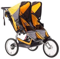 BOB Ironman Duallie Stroller, Yellow - http://activelivingessentials.com/baby-essentials/bob-ironman-duallie-stroller-yellow/