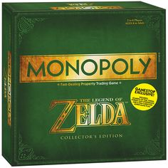 MONOPOLY: The Legend of Zelda Game Stop Exclusive Edition.  I need this with my everything.