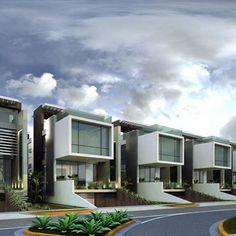 Villa Design, Facade Design, Modern House Design, Exterior Design, Modern Townhouse, Townhouse Designs, Modern Apartments, Home Building Design, Building A House