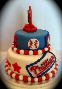 Phillies cake ~ my youngest would love this for his birthday this year; need to check with Sherry's Cup'n Cakes!