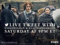 Живой чат в Тwitter С катриной Балф и Сэмом Хьюэном - 8 Июля 2016 - Outlander