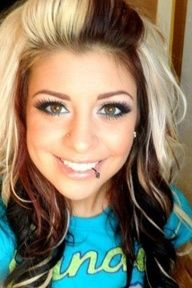 blonde hair with black underneath - Google Search