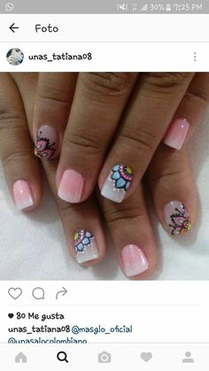 Decoraciones de uñas Hair And Nails, My Nails, Nancy Nails, Bella Nails, Candy Cane Nails, Glow Nails, Fingernail Designs, Different Nail Designs, Short Nails Art