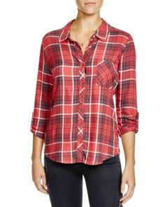 Soft Joie Anabella Plaid Twill Shirt | Bloomingdale's