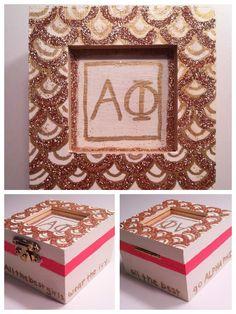 Alpha Phi pin box!