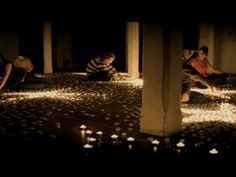 This is beautiful and clever and you should watch it -- stop motion created using 300,000 candles. Just superb
