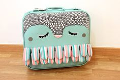 Owl Suitcase - upcycled vintage suitcase!