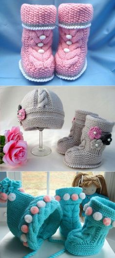 ideas crochet baby girl boots to get for 2019 Knitting Baby Girl, Baby Girl Crochet, Crochet Baby Booties, Baby Knitting Patterns, Baby Patterns, Knitted Booties, Crochet Boots, Crochet Slippers, Baby Girl Boots
