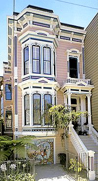 1883 Italinate in San Francisco. My dream home ! Villa Plan, Beautiful Buildings, Beautiful Homes, Beautiful Places, Pink Houses, Old Houses, San Francisco Houses, Second Empire, Victorian Architecture