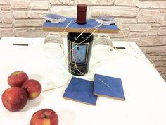 Cardboard Wine Glass holder glass wine by bottegadicartone on Etsy
