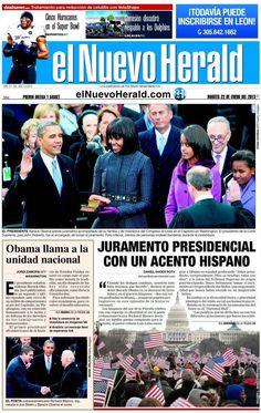 Investidura pública de Barack Obama - 21.01.13 (El Nuevo Herald - EEUU - 22.01.13).