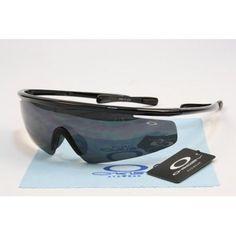 2013 new Oakley Sports Sunglasses polished black frames black lens | See more about black frames, oakley and sunglasses.