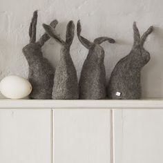 ☛ Holiday - Easter / Spring / Felt rabbits