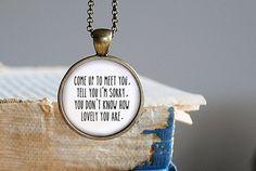 Coldplay  The Scientist Inspired Pendant by GraceandTruthStudio, $12.95   For courtney? @Katie Schmeltzer Schmeltzer Goodman