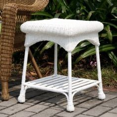 online shopping for Wicker Lane Outdoor White Wicker Patio Furniture End Table from top store. See new offer for Wicker Lane Outdoor White Wicker Patio Furniture End Table White Wicker Patio Furniture, Patio Furniture Makeover, Wicker Side Table, Wicker Dining Set, Wicker Chairs, Outdoor Furniture, Furniture Ideas, Wicker Couch, Vintage Furniture