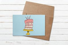 Birthday cake colorful greeting card birthday party | Etsy Birthday Cake Greetings, Card Birthday, Birthday Greeting Cards, Birthday Parties, Stationery, Lily, Colorful, Messages, Writing