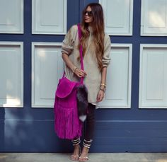 The Boho Bazaar | Hot pink fringes - boho style bags,accessories and clothes