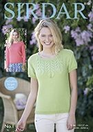 Two variations on this Top knitted in Sirdar No. Jumper Patterns, Knitting Patterns, Crochet Patterns, Long Sleeve Tops, Short Sleeves, Crochet Supplies, Dk Weight Yarn, Jumpers For Women, Needles Sizes