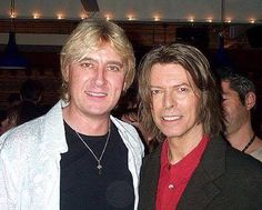 Joe Elliott & David Bowie. Two of my favorite men if all time!  ❤
