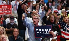 """Frenzied Donald Trump Supporters Are Turning On The Media -- And It's Getting Scary   Huffington Post. The picture I was trying for showed a man with a tee shirt reading """"I am Pepe""""-- Pepe being the animated frog mascot of the alt-right."""