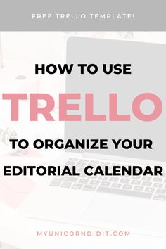 FREE Trello board to help organize your editorial calendar Content Marketing Strategy, Marketing Ideas, Trello Templates, Erin Condren Life Planner, Online Entrepreneur, Virtual Assistant, Blog Tips, How To Start A Blog, Productivity