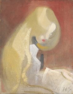 Helene Schjerfbeck - Girl with blonde hair, 1916. Oil on canvas