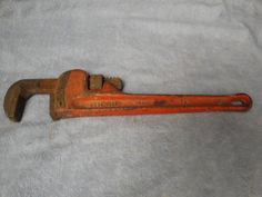 """Rigid Heavy Duty 14"""" Pipe Wrench. Used but in pretty good condition. Marked as shown. Made in U.S.A."""