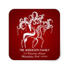 Shop Elegant Christmas Reindeer Return Address Stickers created by SquirrelHugger. Christmas Return Address Labels, Return Address Stickers, Elegant Christmas, Christmas Holidays, Stag And Doe, Christmas Stationery, Holiday Essentials, Christmas Stickers, Woodland Creatures