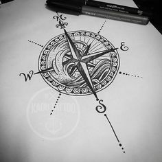 Sera que eu precisarei de mais quantos anos de Tattoo pra entender e acostumar c. Will I need more how many years of Tattoo to understand and get used to customers who just don't come ? Trendy Tattoos, Popular Tattoos, New Tattoos, Body Art Tattoos, Tattoos For Guys, Sleeve Tattoos, Tatoos, Nautical Compass Tattoo, Compass Tattoo Design