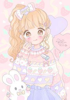 Wallpapers Kawaii, Cute Cartoon Wallpapers, Animes Wallpapers, Kawaii Anime Girl, Cute Kawaii Girl, Iphone Wallpaper Cat, Cute Anime Wallpaper, Arte Do Kawaii, Kawaii Art