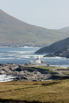 Valentia Island lighthouse, beautiful balmy day in September. http://www.valentiaisland.ie/