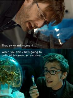 """Watching Broadchurch and I'd been trying to un-see David Tennant's character as 10 and I was doing a very good job of it when he whips out his """"brainy specs"""" and I have this moment. ^"""