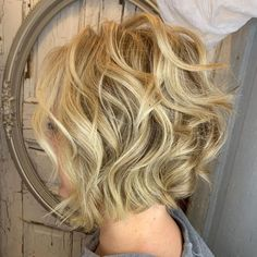 Feminine Wavy Golden Blonde Bob - 60 Short Shag Hairstyles That You Simply Can't Miss - The Trending Hairstyle - Page 17 Asymmetrical Bob Haircuts, Short Shag Hairstyles, Pixie Haircuts, Medium Hairstyles, Wedding Hairstyles, Wavy Inverted Bob, Braided Hairstyles, Layered Haircuts, Men's Hairstyle