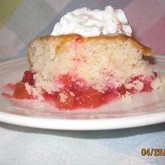 Aunt Kaye's Rhubarb Dump Cake - Allrecipes.com